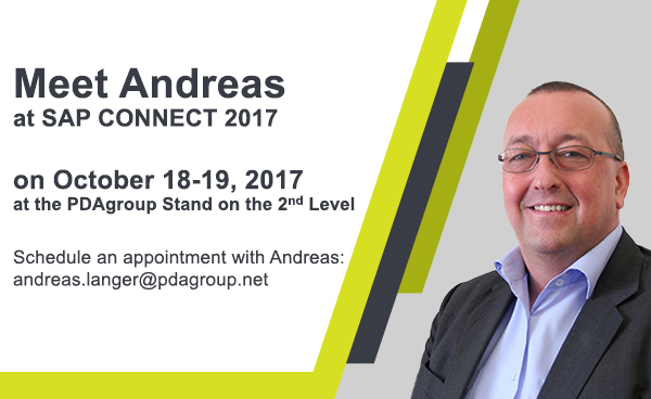 Meet Andreas at SAP Connect 2017