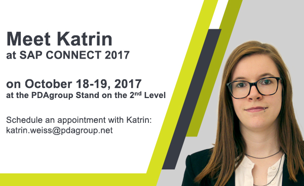 Meet Katrin at SAP Connect 2017