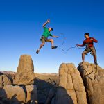 climbing, sport, two, male, metapher, success, risk, step, vision, change