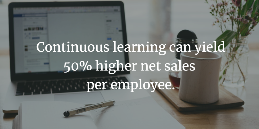 Continuous Learning can yield 50% higher net sales per employee