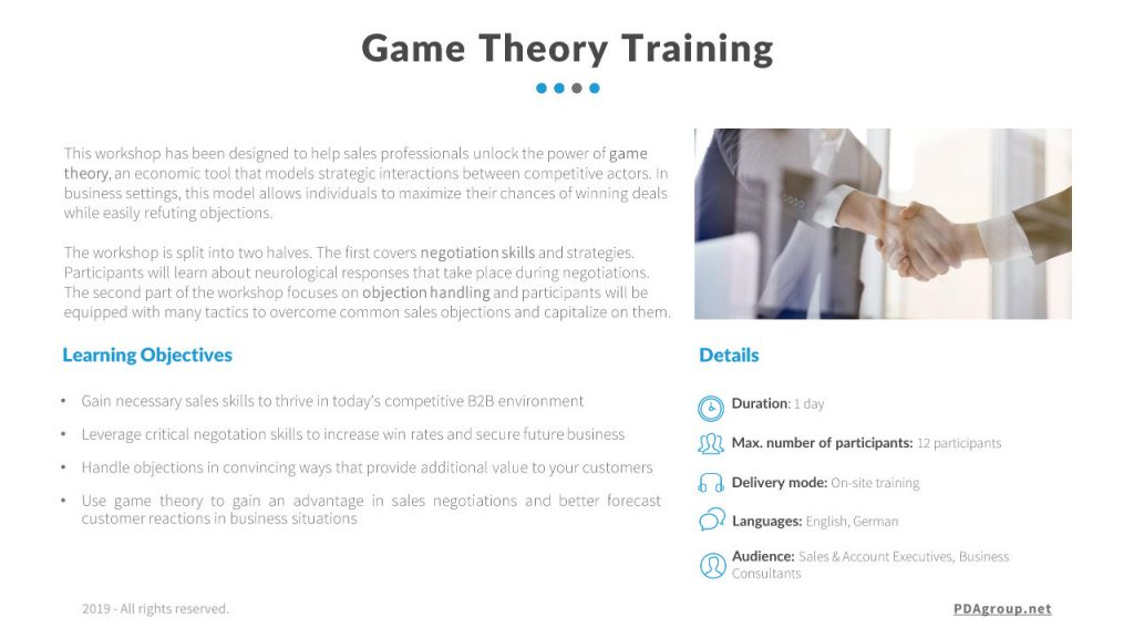 Handling Objections, Game Theory Training